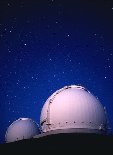 Keck Telescopes - star background